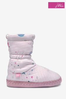 Joules Pink Slipper Socks