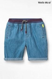 White Stuff Blue Kids Expedition Denim Shorts