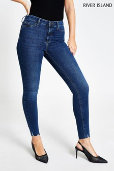 River Island Denim Dark Molly Mid Rise Tuscany Jeans
