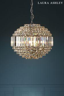 Chrome Vienna Crystal 5 Light Orb Chandelier