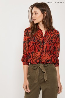 قميص طباعة شكل جلد حمار وحشي Lizzie من Mint Velvet