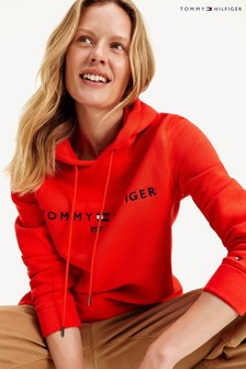 Tommy Hilfiger Orange Essential Logo Hoody