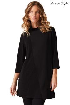 Phase Eight Black Maggie Cowl Neck Longline Top