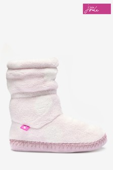 Joules Pink Slipper Boots