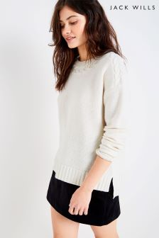 Jack Wills Cream Cable Knit Dress