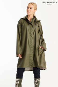 Ilse Jacobson Army Longline Waterproof Raincoat