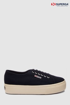 Superga® Navy Canvas 2790 Flatform Trainers