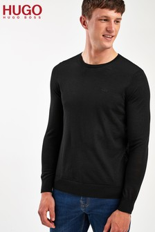 HUGO Black San Lorenzo Crew Neck Jumper