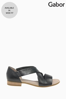 Gabor Sweetly Black Leather Sandals