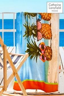 Pineapple Beach Towel by Catherine Lansfield