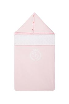 Dolce & Gabbana Kids Baby Girls Pink Cotton Nest