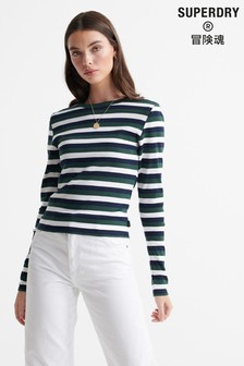 Superdry Retro Stripe Long Sleeved Top