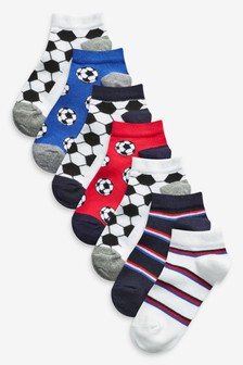 7 Pack Cotton Rich Football Trainer Socks (Older)