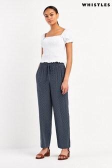 Whistles Multi Batik Print TENCEL™ Trousers
