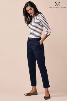 Crew Clothing Company Blue Claudia Trousers