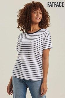 NEW RRP £32 Fat Face Navy Stripe Short Sleeve T-Shirt 70
