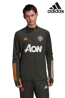 adidas Green Manchester United 20/21 Training Top