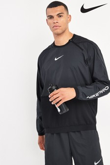 Nike Pro Black Training Crew Sweater