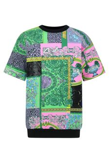 Versace Girls Multicolour Cotton Dress