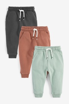 3 Pack Soft Touch Joggers (3mths-7yrs)