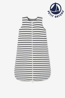 Petit Bateau Navy Stripe Iconic Rib Reversible Sleeping Bag