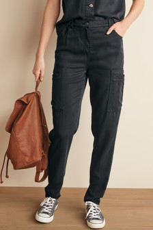 TENCEL™ Cargo Tapered Trousers