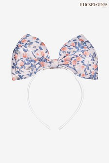 Hucklebones White Floral Bow Hairband