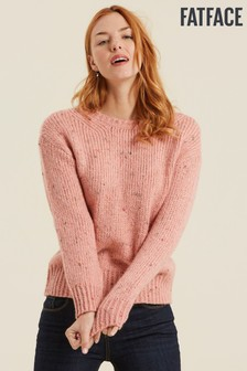 FatFace Pink Nora Neppy Chunky Jumper