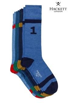 Hackett Blue Pique Numbered Socks Gift