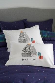 Set of 2 Bear Hugs Pillowcases