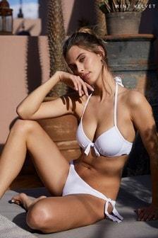 Mint Velvet Textured Tie Side Bikini Briefs