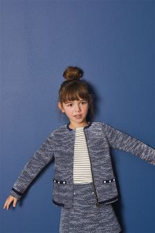 Tweed Effect Pearl Jacket (3-16yrs)