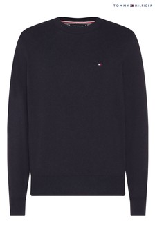 Tommy Hilfiger Blue Pima Cotton Cashmere Sweater
