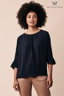 Crew Clothing Company Blue Sadie Top
