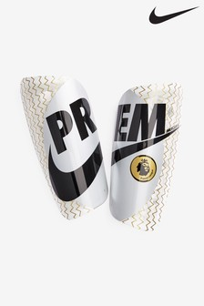 Nike White/Gold Mercurial Lite Premier League Shin Guard