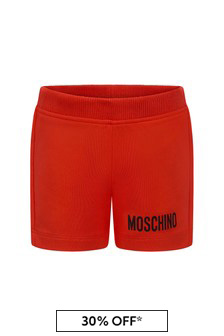 Moschino Kids Baby Red Cotton Shorts