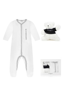 White Cotton Babygrow Two Piece Gift Set