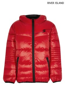 River Island Red Padded Jacket