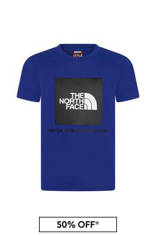The North Face Blue Cotton T-Shirt