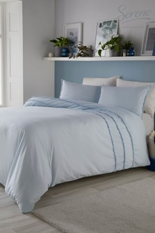 Tassels Embellished Duvet Cover and Pillowcase Set by Serene