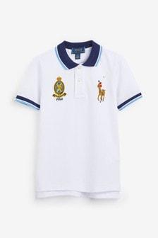 Ralph Lauren White Badge Polo
