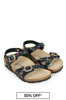 Birkenstock Girls Black Rio Sandals