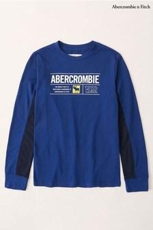 Abercrombie & Fitch Blue Raglan Long Sleeve T-Shirt