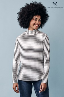 Crew Clothing Company White Roll Neck Top