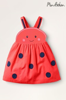 Boden Red Cord Ladybird Pinifore