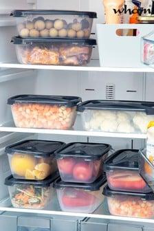 Set of 10 Wham Cuisine Rectangular Food Boxes and Lids (1.2L/1.6L)