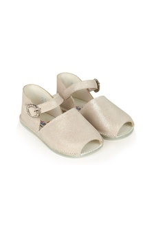 Andanines Baby Girls Gold Leather Shoes