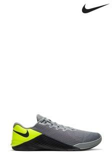Nike Train Grey/Green Metcon 5 Trainers