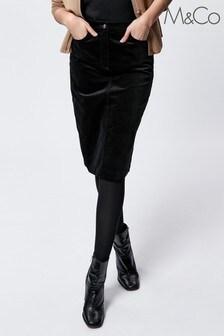 M&Co Velvet Midi Skirt