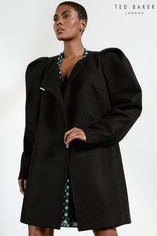 Ted Baker Zylaa Exaggerated Shoulder Coat